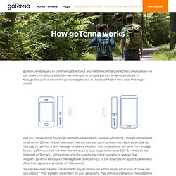 How goTenna works