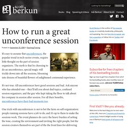 How to run a great unconference session