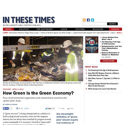 How Green Is the Green Economy?