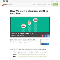 How We Grew a Blog to $6 Million+ in 12 Months