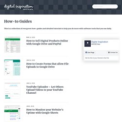 How-to Guides and Software Tutorials