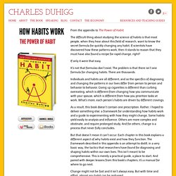How Habits Work - Charles Duhigg