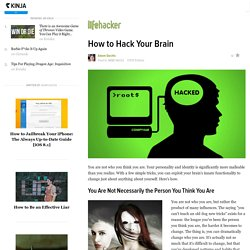 How to Hack Your Brain - StumbleUpon