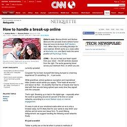 How to handle a break-up online