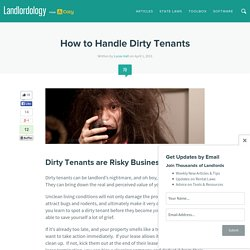 How to Handle Dirty Tenants