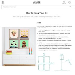 How to hang your art