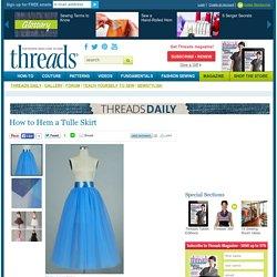 How to Hem a Tulle Skirt