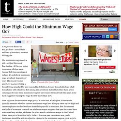 How High Could the Minimum Wage Go?