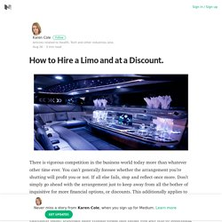 How to Hire a Limo and at a Discount. – Medium