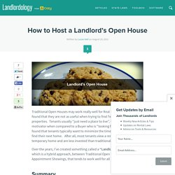 How to Host a Landlord's Open House