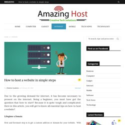 How to host a website in simple steps