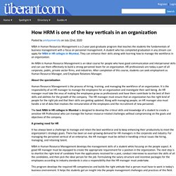 How HRM is one of the key verticals in an organization