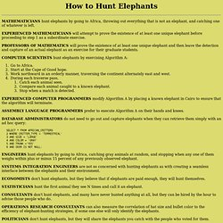 How to Hunt Elephants