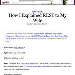 How I Explained REST to My Wife