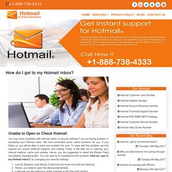 How do I get to my Hotmail inbox?