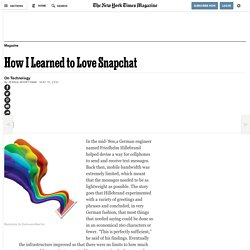 How I Learned to Love Snapchat