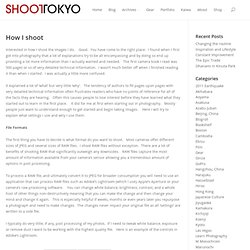 How I shoot | ShootTokyo