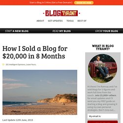 How I Sold a Blog for $20,000 in 8 Months