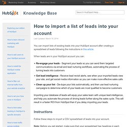 TUTORIAL: How to import leads into HubSpot
