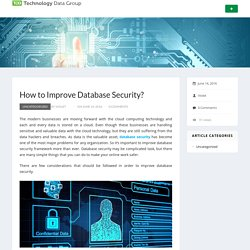 How to Improve Database Security?