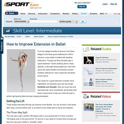 How to Improve Extension in Ballet