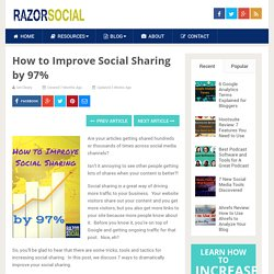 How to Improve Social Sharing by 97%