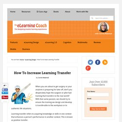 How To Increase Learning Transfer