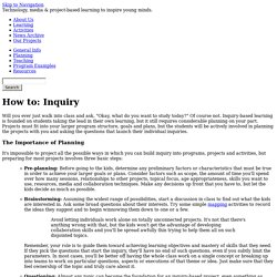 How to: Inquiry | YouthLearn