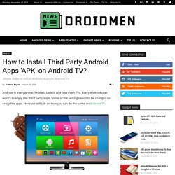 How to Install Android Apps on Android TV