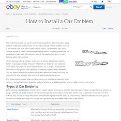 How to Install a Car Emblem