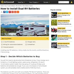 How to Install Dual RV Batteries