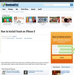 How to Install Flash on iPhone 5