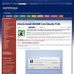 How to Install GNOME 3 on Ubuntu 11.04