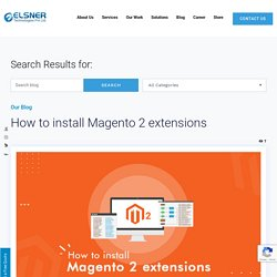 How to install Magento 2 extensions