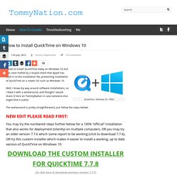 How to Install QuickTime on Windows 10
