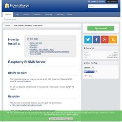 How to install a Raspberry Pi SMS Server