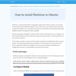 How to install Redmine in Ubuntu