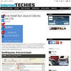 How to Install Sun Java on Ubuntu 10.04 LTS