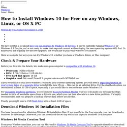 How to Install Windows 10 for Free on any Windows, Linux, or OS X PC