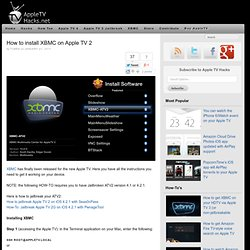How to install XBMC on Apple TV 2