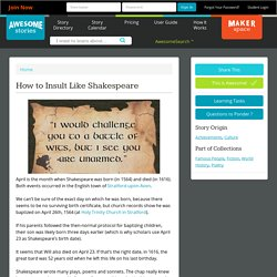 How to Insult Like Shakespeare