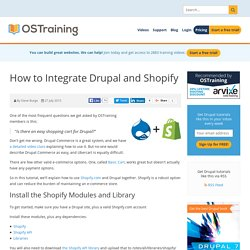 How to Integrate Drupal and Shopify