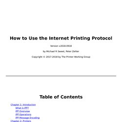 How to Use the Internet Printing Protocol