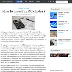 How to Invest in MCX India ?