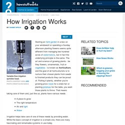 How Irrigation Works