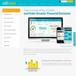 Free Credit Score Monitoring, Debt Management & Personal Finance Tool | Credit Sesame