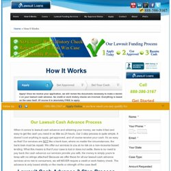 How It Works - E Lawsuit Loans