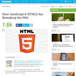 How JavaScript & HTML5 Are Remaking the Web