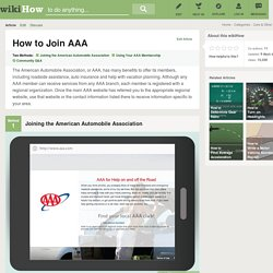 How to Join AAA