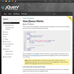 Tutorials:How jQuery Works